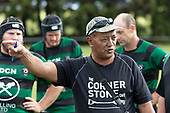 Maramarua Coach Toko Whare. Counties Manukau Premier 3 Counties Power Club Rugby Round 1 game between Maramarua and Weymouth, played at Maramarua on Saturday April 7th, 2018. Weymouth won the game 43 - 17 after leading 33 - 0 at halftime.<br /> Photo by Richard Spranger.