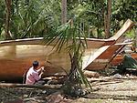 Koh Lanta, Thailand. Longtail boat builder.