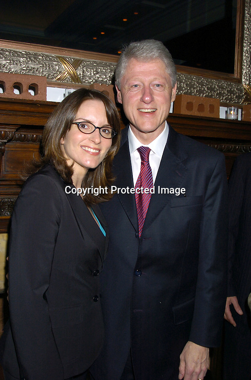Tina Fey and President Bill Clinton ..at The 2005 Do Something Brick Awards on April 19, 2005 at Capitale in New York City. ..Photo by Robin Platzer, Twin Images