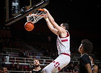 STANFORD, CA - January 26, 2019: Josh Sharma at Maples Pavilion. The Stanford Cardinal defeated the Colorado Buffaloes 75-62.