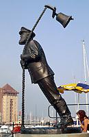 Großbritannien, Wales, Swansea, Denkmal von Captain Cat, einer Romanfigur von Dylan Thomas