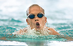Cottonwood's Alexander Gustat competes in the 100 yard IM race during the 53rd annual Country Club Swimming Championships on Monday, Aug. 6, 2012, in Kearns, Utah. (© 2012 Douglas C. Pizac)