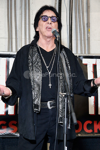 OAKS, PA - NOVEMBER 28 :  Special Guest Peter Criss of KISS pictured at The All Things That Rock Fest at the Greater Philadelphia Expo Center in Oaks, Pa on November 28, 2014  photo credit  Star Shooter / NediaPunch