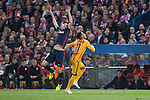 Atletico de Madrid's Diego Godin and FC Barcelona Neymar during Champions League 2015/2016 Quarter-Finals 2nd leg match. April 13, 2016. (ALTERPHOTOS/BorjaB.Hojas)