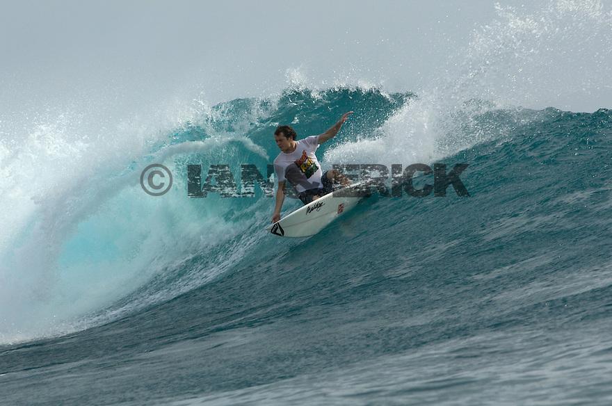 Unknown surfer at Hideways in the Mentawais.