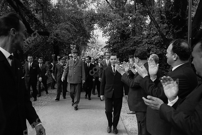 French President Charles de Gaulle, during his state visit, Bucharest, Romania, May 1968