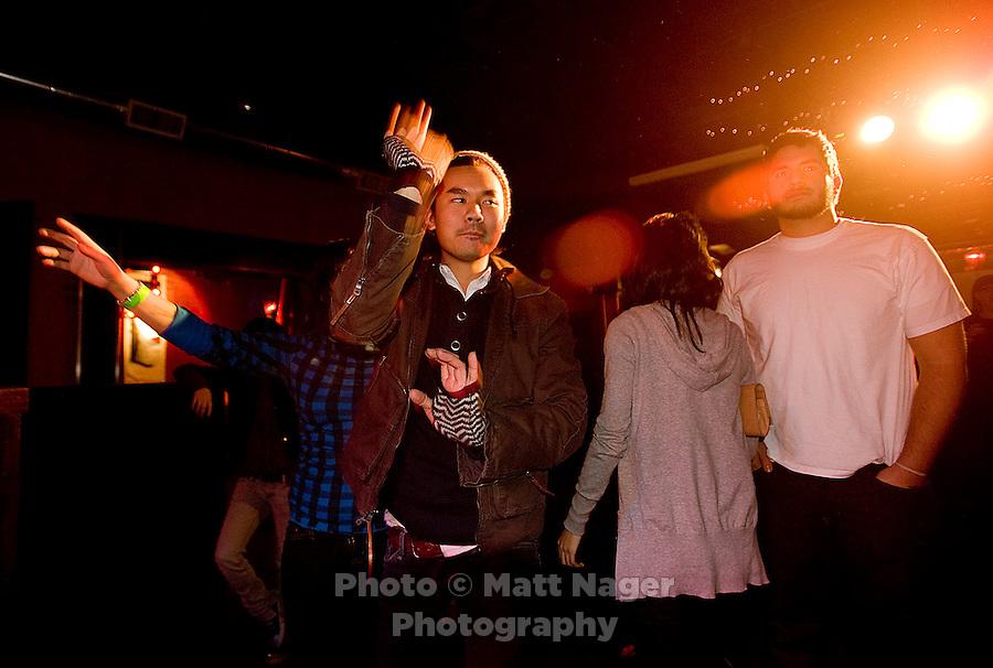 LaShunda Flowers, known as Shunda K, of Yo Majesty performs at Hailey' s Club in Denton, TX, Friday, January 16, 2009. The Hip-Hop group from Florida gained popularity through MySpace...PHOTOS/ MATT NAGER