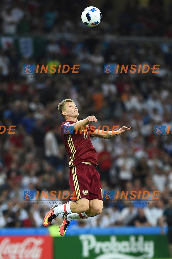 Oleg Shatov Russia<br /> Marseille 11-06-2016 Stade Velodrome Footballl Euro2016 England - Russia  / Inghilterra - Russia Group Stage Group B. Foto Massimo Insabato / Insidefoto