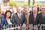 OPENING:  Ceann Comhairle John O'Donoghue  cuts the tape to officiayl open  a new extension to Scoil Ide  National School in Curranes on Friday last..L/r. Cait Daly (Acting Principle), John O'Donoghue, Cllr. Bobby O'Connell and Jimmy Deenihan TD.   Copyright Kerry's Eye 2008