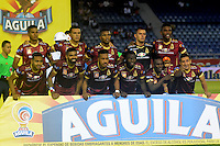 BARRANQUIILLA -COLOMBIA-12-10-2016. Jugadores de Deportes Tolima posan para una foto previo al encuentro de vuelta con Atlético Junior por la semifinal de la Copa Águila 2016 jugado en el estadio Metropolitano Roberto Meléndez de la ciudad de Barranquilla./ Players of Deportes Tolimapose to a photo prior the second leg match against Atletico Junior for the semifinals of the Aguila Cup 2016 played at Metropolitano Roberto Melendez stadium in Barranquilla city.  Photo: VizzorImage/Alfonso Cervantes/Cont