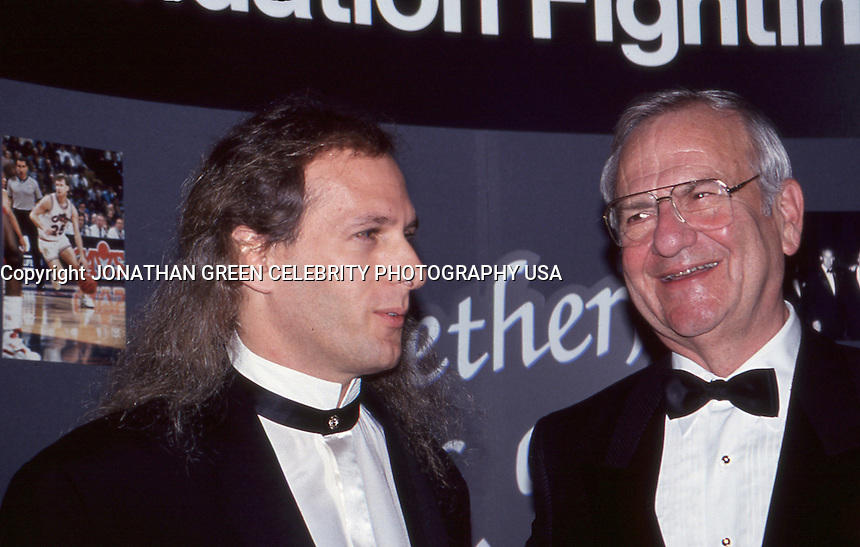 Lee Iacocca &amp; Michael Bolton 1992 by<br /> Jonathan Green
