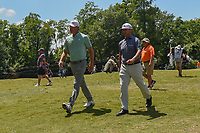 Chez Reavie (USA) and Lucas Glover (USA) head for 2 during Round 2 of the Zurich Classic of New Orl, TPC Louisiana, Avondale, Louisiana, USA. 4/27/2018.<br /> Picture: Golffile | Ken Murray<br /> <br /> <br /> All photo usage must carry mandatory copyright credit (&copy; Golffile | Ken Murray)