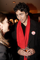 December 1st, 2006 File Photo - Montreal (Quebec) CANADA -<br /> <br /> Justin Trudeau, son of Former Prime Minister Pierre Trudeau, meet with  Ken Dryden's supporters  during his reception held on the top floor of  the Delta Hotel during the Leadership Convention in Montreal,  December 1st, 2006<br /> <br /> (c) : 2006, Images Distribution