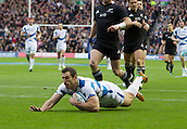 11.11.2012 Edinburgh, Scotland.     Scotland's Tim Visser scoring his 1st try for Scotland during the EMC Scottish Rugby Autumn Test between Scotland v New Zealand from Murrayfield Stadium.