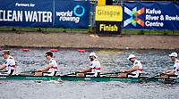 Glasgow, Scotland, Sunday, 5th  August 2018, Final Men's  Single Sculls, Gold  Medalist, GER M8+,  Bow,  GER M8+, Bow, Johannes WEISSENFELD, Felix WIMBERGER, Maximilian PLANER, Torben JOHANNESEN, Jakob SCHNEIDER, Malte JAKSCHIK, Richard SCHMIDT, <br /> Hannes OCIK and cox Martin SAUER,  European Games, Rowing, Strathclyde Park, North Lanarkshire, &copy; Peter SPURRIER/Alamy Live News