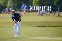 Harold Varner III (USA) chips on to 17 during Round 2 of the Zurich Classic of New Orl, TPC Louisiana, Avondale, Louisiana, USA. 4/27/2018.<br /> Picture: Golffile | Ken Murray<br /> <br /> <br /> All photo usage must carry mandatory copyright credit (&copy; Golffile | Ken Murray)