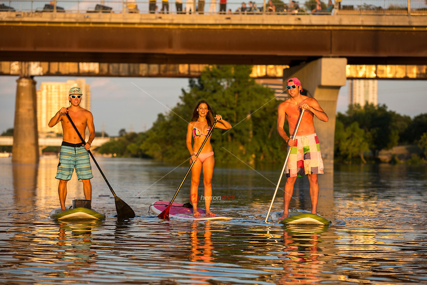 Stand-Up paddleboarding is the number one fitness sport and pastime in Austin, Texas.