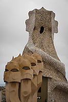 Out of this world, best describes the rooftop architectural elements of Gaudi's La Pedrera.