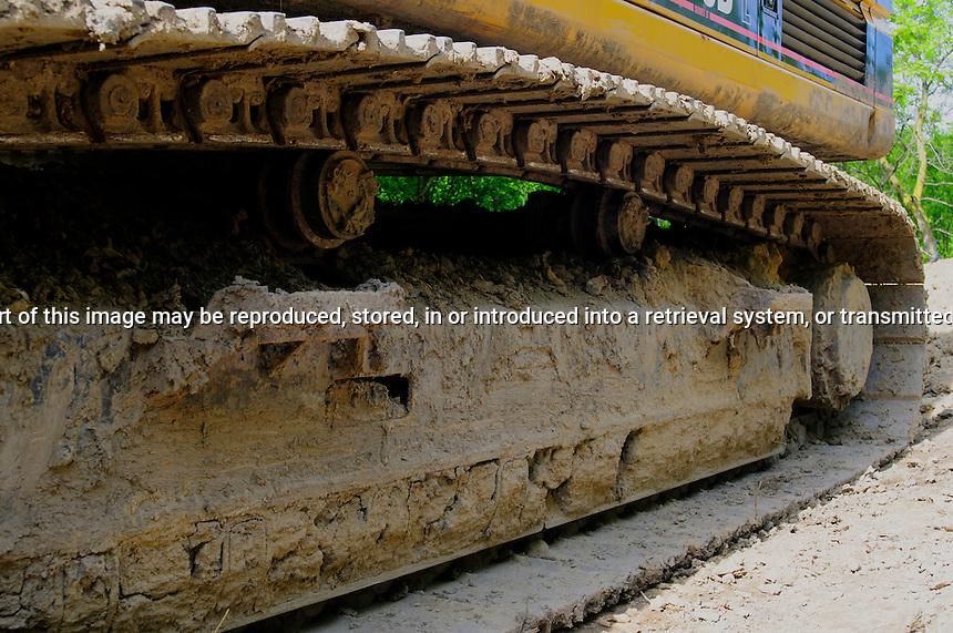 Close-up of Excavator Track