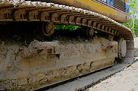 Close-up of Excavator Track