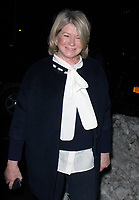 NEW YORK, NY - JANUARY 11: Martha Stewart arriving at the IFC Films premiere of Freak Show at the Landmark Sunshine Cinema in New York City on January 10, 2018. Credit: RW/MediaPunch