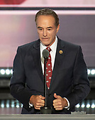 United States Representative Chris Collins (Republican of New York) seconds the nomination of Donald Trump as the GOP nominee for President of the United States at the 2016 Republican National Convention held at the Quicken Loans Arena in Cleveland, Ohio on Tuesday, July 19, 2016.<br />