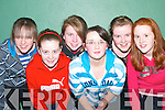 ST SENAN'S: Some of the Listowel team enjoying the Shannonside Youth Club Soccer Game in the Ballybunion Community Centre on Friday night were Marie O'Halloran, Marie Nolan, Michelle Enright, Rachel Keane, Katie Wall and Katie Mulvihill.   Copyright Kerry's Eye 2008