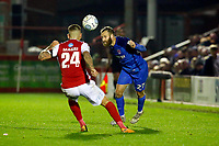 O's James Dayton & Sam Magri during Ebbsfleet United vs Leyton Orient, Vanarama National League Football at The PHB Stadium on 11th November 2017