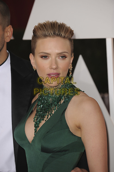 HOLLYWOOD, CA - FEBRUARY 22: Scarlett Johansson attends 87th Annual Academy Awards at The Dolby Theater on February 22nd, 2015 in Hollywood, California. <br /> CAP/MPI/PGMP<br /> &copy;PGMP/MPI/Capital Pictures