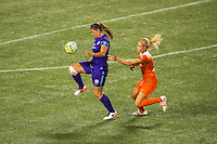 Orlando, FL - Thursday June 23, 2016: Laura Alleway, Rachel Daly during a regular season National Women's Soccer League (NWSL) match between the Orlando Pride and the Houston Dash at Camping World Stadium.