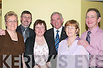 MEET: Friends meet up at the Lee Strand Annual Social in the Brandon Hotel Conference Centre, Tralee on Saturday night. Front l-r: Phyllis Keane (Tralee), Catherine Brosnan and Rita O'Sullivan (Tralee). Back l-r: Peter Keane (Tralee), John Brosnan (Currow) and Johnny O'Sullivan (Tralee).   Copyright Kerry's Eye 2008