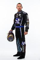 Jan 15, 2015; Jupiter, FL, USA; NHRA funny car driver Jack Beckman poses for a portrait during preseason testing at Palm Beach International Raceway. Mandatory Credit: Mark J. Rebilas-USA TODAY Sports