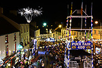 A massive 15 minute fireworks display in front of a packed town square brings Puck Fair 2018 to a close in Killorglin, County Kerry on Sunday evening. <br /> Photo: Don MacMonagle<br /> <br /> <br /> For pictures and live updates on the three-day free family extravaganza, check out Puck Fair on Facebook, Twitter, Instagram and YouTube or see www.puckfair.ie #PaintTheTownPuck<br /> Photo: Don MacMonagle<br /> <br /> pr photo PHOTO FROM PUCK FAIR