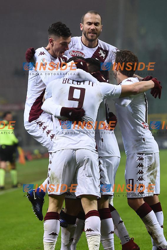 esultanza gol Andrea Belotti Torino Celebration goal<br /> Milano 12-01-2017 Stadio Giuseppe Meazza - Football Calcio Coppa Italia Milan - Torino. Foto Image Sport / Insidefoto