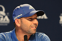 Sergio Garcia (ESP) press conference during Wednesday's Practice Day of the 2017 PGA Championship held at Quail Hollow Golf Club, Charlotte, North Carolina, USA. 9th August 2017.<br /> Picture: Eoin Clarke | Golffile<br /> <br /> <br /> All photos usage must carry mandatory copyright credit (&copy; Golffile | Eoin Clarke)
