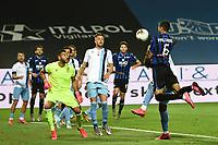 24th June 2020, Bergamo, Italy; Seria A football league, Atalanta versus Lazio;  Jose Luis Palomino wins the header and scores his winning goal for 3-2 in the 80th minute