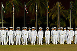 Young cadets at Naval academy parade, Cartagena de Indias, Bolivar Department, Colombia, South America.