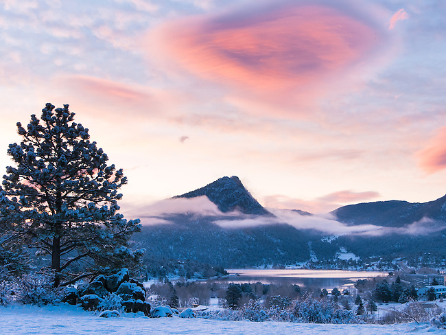 sunrise, Estes Park, Colorado, Rocky Mountains