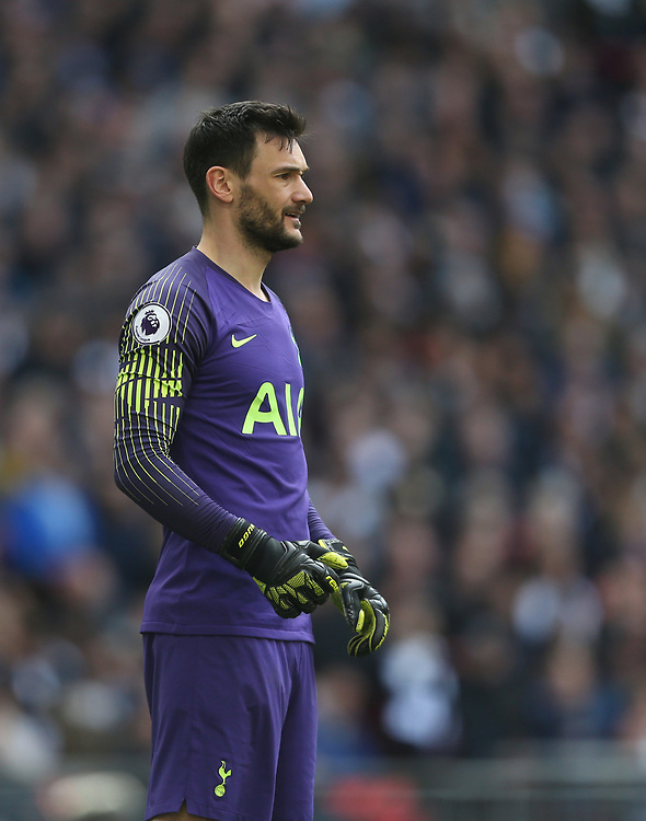 Tottenham Hotspur's Hugo Lloris<br /> <br /> Photographer Rob Newell/CameraSport<br /> <br /> The Premier League - Tottenham Hotspur v Arsenal - Saturday 2nd March 2019 - Wembley Stadium - London<br /> <br /> World Copyright © 2019 CameraSport. All rights reserved. 43 Linden Ave. Countesthorpe. Leicester. England. LE8 5PG - Tel: +44 (0) 116 277 4147 - admin@camerasport.com - www.camerasport.com