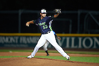 Vermont Lake Monsters pitcher Kyle Friedrichs (33) delivers a pitch during a game against the Hudson Valley Renegades on September 3, 2015 at Centennial Field in Burlington, Vermont.  Vermont defeated Hudson Valley 4-1.  (Mike Janes/Four Seam Images)