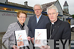 Bishop Ray Browne with Jim Sheehy the Disignated Person for Sfeaguarding Children and Bridie Cronin Safeguarding Co-ordinator and Trainer at the Review of Safeguarding Children in the Diocese of Kerry report launch in Killarney on Tuesday