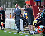 Motherwell v St Johnstone...11.08.12.Steve Lomas and Stuart McCall.Picture by Graeme Hart..Copyright Perthshire Picture Agency.Tel: 01738 623350  Mobile: 07990 594431
