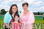 At the Races - Evelyn Finnegan, Aoife Fleming, Lucia Power at the Castleisland Races on Sunday