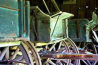 Old pioneer wagons on display at Black Creek Pioneer Village in Toronto Canada