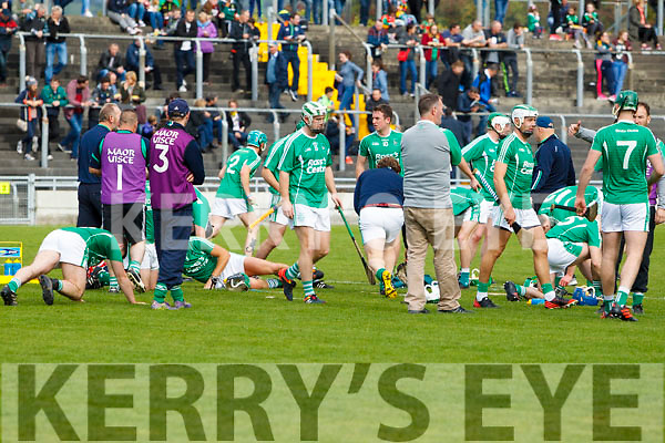 The Ballyduff team Before the Senior County Hurling Final in Austin Stack Park on Sunday