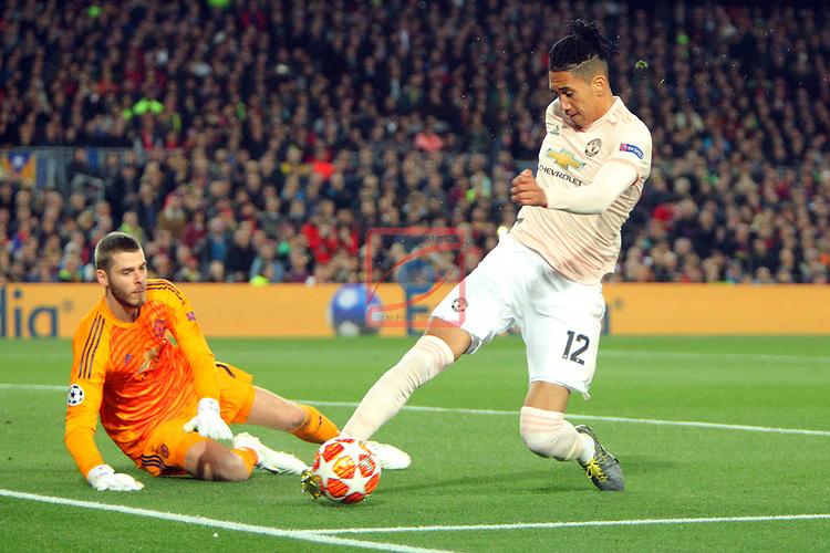 UEFA Champions League 2018/2019.<br /> Quarter-finals 2nd leg.<br /> FC Barcelona vs Manchester United: 3-0.<br /> David de Gea & Chris Smalling.