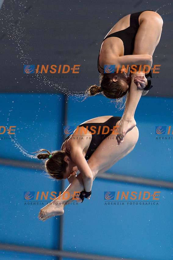 Villos KORMOS Zsofia REISINGER HUN <br /> Bronze Medal <br /> Women Synchronized Platform Final <br /> London, Queen Elizabeth II Olympic Park Pool <br /> LEN 2016 European Aquatics Elite Championships <br /> Diving  <br /> Day 02 10-05-2016<br /> Photo Andrea Staccioli/Deepbluemedia/Insidefoto