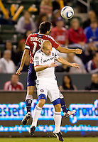 Jonathan Bornstein Captain and midfielder of Chivas USA battles with Chicago Fire forward Freddie Ljungberg. The Chicago Fire defeated CD Chivas USA 3-1 at Home Depot Center stadium in Carson, California on Saturday October 23, 2010.