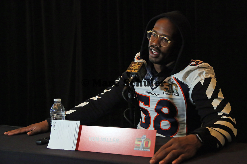 LB Von Miller (Broncos) - Super Bowl 50 Denver Broncos PK, Marriott Santa Clara