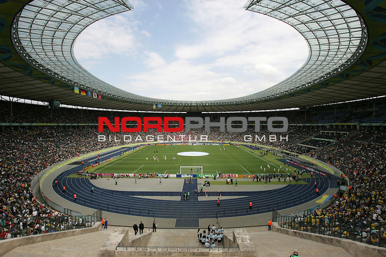 FIFA WM 2006 - Gruppe H ( Group H )<br /> Play #48 (23-Jun) - Ukraine vs Tunisia.<br /> Gerneral view of the Olympic Stadium prior to the match of the World Cup in Berlin.<br /> Foto &copy; nordphoto